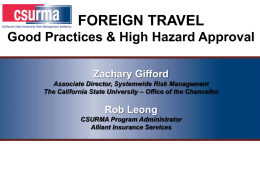 Claims Management - California State University