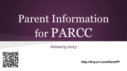 Parent Information for PARCC - Middletown Township Public