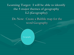 5 Themes of Geography - Mrs. Mangone's Classroom