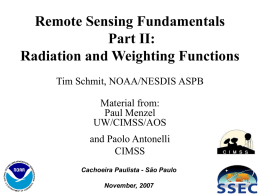 Remote Sensing Fundamentals Part II: Radiation and