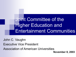 Joint Committee of the Higher Education and Entertainment