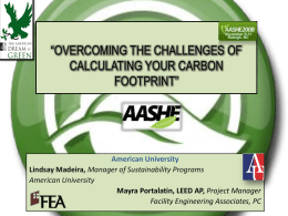 OVERCOMING THE CHALLENGES OF CALCULATING YOUR CARBON …