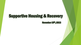 Supportive Housing & Recovery
