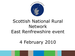 Scottish National Rural Network East Renfrewshire event 4