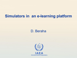 Simulators in an e-learning platform