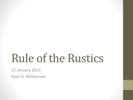 Rule of the Rustics