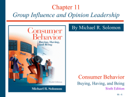 Chapter 1 Consumers Rule - National University of Kaohsiung
