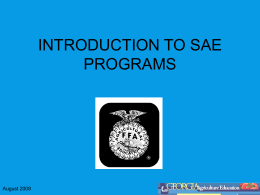 INTRODUCTION TO SAEs