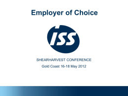 Employer of Choice - Shearing Contractors' Association of