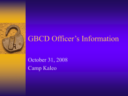GBCD Officer's Information