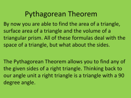 Pythagorean Theorem - Sage Middle School