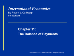 Carbaugh Intl Econ 8e Chapter 11