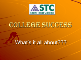 College Success - South Texas College