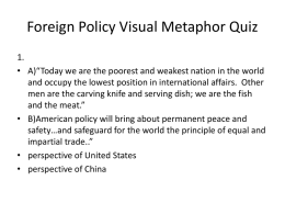 Foreign Policy Visual Metaphor Quiz