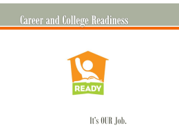Career and College Readiness
