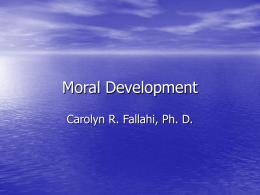 Moral Development - Central Connecticut State University
