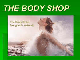 BODY SHOP - ETWeb輔仁英文網