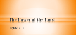The Power of the Lord - Oologah church of Christ