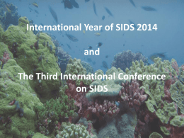 International Year of SIDS 2014