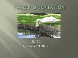 CAREER ORIENTATION