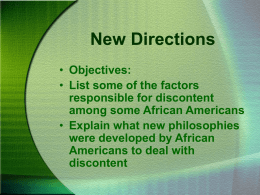 Chapter 32 Section 3: New Directions