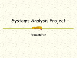 Systems Analysis Project