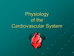 Physiology of the Cardiovascular System