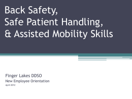 Safe Patient Handling - NYS & CSEA Partnership