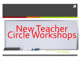 New Teacher Circle