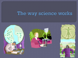 The way science works - Sonoma Valley High School