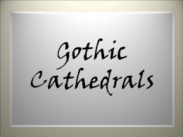 Gothic Cathedrals - Religious education