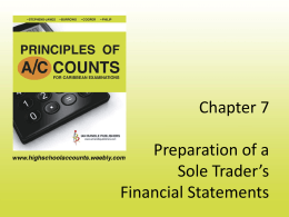 BOOKS OF ORIGINAL ENTRY - Principles of Accounts for
