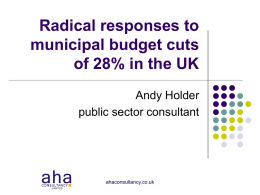 Radical responses to municipal budget cuts of 28 % in the UK