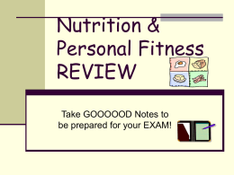 Nutrition & Personal Fitness REVIEW