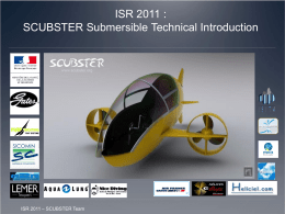 Projet Scubster - International Submarine Races