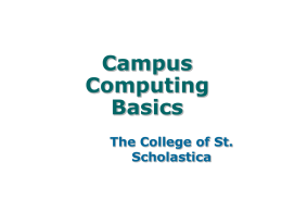 Campus Computing Basics - The College of St. Scholastica