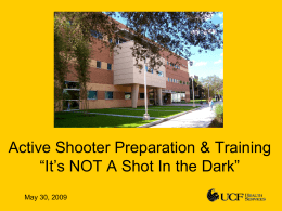 Active Shooter and Lockdown Training