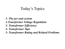 Today's Topics - Department of Electrical Engineering