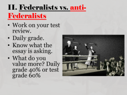 Unit 1 Part 1: Foundations of American Government Test Review