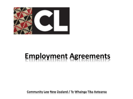 Employment Agreements - Community Law: Free legal help