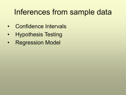 Inferences from sample data
