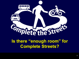 Complete Streets Intro by Michael Ronkin