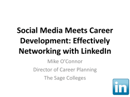 Social Media Meets Career Development: Effectively