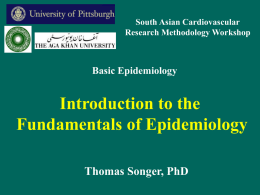 Intro to Epidemiology - University of Pittsburgh