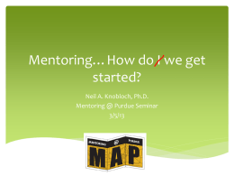 Mentoring…How do we get started?