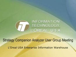 Enterprise Information Warehouse
