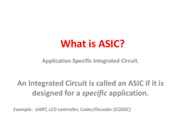 What is ASIC? - London South Bank University