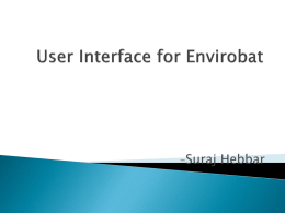 User Interface for Envirobat