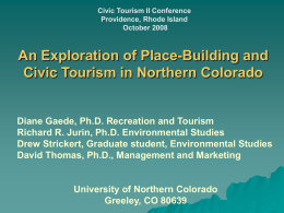 Exploration of Place-Building and Civic Tourism in