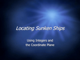 Locating Sunken Ships